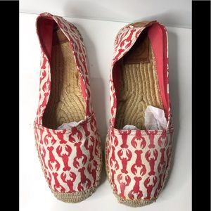 Tory Burch lobster espadrille shoes 8
